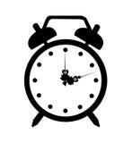 Icono del despertador del vector Imágenes de archivo libres de regalías