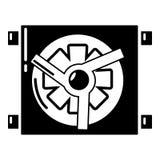 Icono del detalle del coche del dínamo, estilo simple stock de ilustración