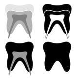 Icono del diente Foto de archivo