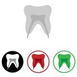 Icono del diente Fotografía de archivo libre de regalías