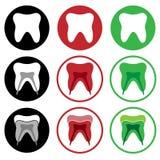 Icono del diente Imágenes de archivo libres de regalías