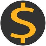 Icono del dinero, icono del dólar, icono de la muestra del dinero Fotografía de archivo libre de regalías
