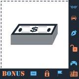 Icono del dinero del paquete completamente ilustración del vector