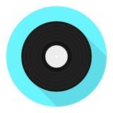 Icono del disco del vinilo del vector Icono plano del disco de vinilo Imagen de archivo