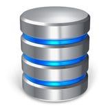 Icono del disco duro y de la base de datos stock de ilustración