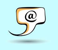 Icono del discurso del arte pop del email Imágenes de archivo libres de regalías