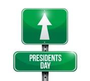icono del diseño del ejemplo de la señal de tráfico del día de los presidentes stock de ilustración