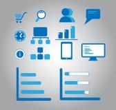 Iconos del diseño web Imagen de archivo libre de regalías