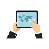 Icono del dispositivo de la tableta stock de ilustración