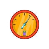 Icono del dispositivo del combustible del indicador, estilo de la historieta Imagen de archivo