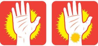 Icono del dolor de la mano Imagen de archivo