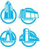 Icono del edificio Imagenes de archivo