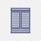 Icono del edificio alto Fotografía de archivo libre de regalías