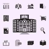 Icono del edificio de biblioteca Sistema universal de los iconos de la biblioteca para la web y el m?vil libre illustration
