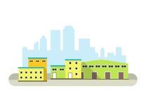 Icono del edificio de Warehouse Imagenes de archivo