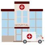 Icono del edificio del hospital, ejemplo del vector Imágenes de archivo libres de regalías
