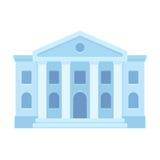 Icono del edificio del tribunal ilustración del vector