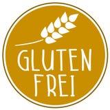 Icono del ejemplo con la palabra alemana para el glutenfree stock de ilustración