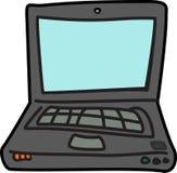 Icono del ejemplo de la historieta del ordenador portátil del ordenador Imagenes de archivo