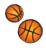 Icono del ejemplo del grunge del baloncesto Imagen de archivo libre de regalías