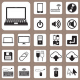 Icono del ejemplo, del ordenador y del dispositivo del vector para el diseño y Cre Fotografía de archivo