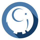 Icono del elefante del vector Fotos de archivo