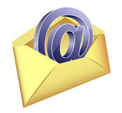 Icono del email Foto de archivo