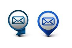 Icono del email Fotografía de archivo