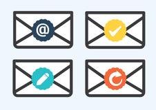 Icono del email Imágenes de archivo libres de regalías