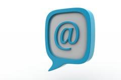 Icono del email en burbuja del discurso stock de ilustración