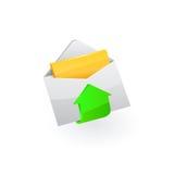 Icono del email Vector Fotos de archivo