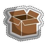 icono del embalaje del cartón de la caja Fotografía de archivo