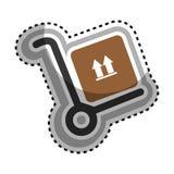 icono del embalaje del cartón de la caja Imagen de archivo