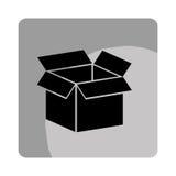 icono del embalaje del cartón de la caja Fotos de archivo