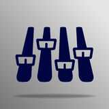 Icono del equalizador Imágenes de archivo libres de regalías