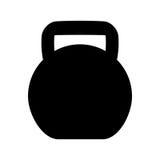 icono del equipo del levantamiento de pesas Foto de archivo libre de regalías
