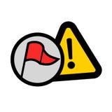 Icono del error Foto de archivo