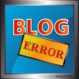 Icono del error del blog Fotografía de archivo libre de regalías