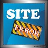 Icono del error del sitio Fotos de archivo