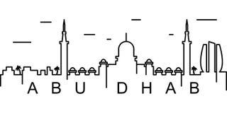 Icono del esquema de Abu Dhabi Puede ser utilizado para la web, logotipo, app móvil, UI, UX ilustración del vector