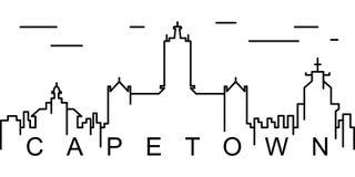 Icono del esquema de Cape Town Puede ser utilizado para la web, logotipo, app móvil, UI, UX libre illustration