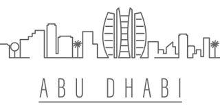 Icono del esquema de la ciudad de Abu Dhabi Elementos del icono del ejemplo de las ciudades y de los pa?ses Las muestras y los s?