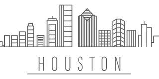 Icono del esquema de la ciudad de Houston Elementos del icono del ejemplo de las ciudades y de los pa?ses Las muestras y los s?mb libre illustration