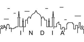 Icono del esquema de la India Puede ser utilizado para la web, logotipo, app móvil, UI, UX libre illustration