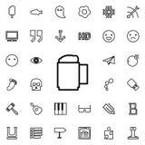 Icono del esquema de la taza de cerveza Sistema detallado de la línea minimalistic iconos Diseño gráfico superior Uno de los icon Imagenes de archivo