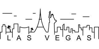 Icono del esquema de Las Vegas Puede ser utilizado para la web, logotipo, app móvil, UI, UX stock de ilustración