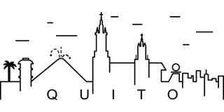 Icono del esquema de Quito Puede ser utilizado para la web, logotipo, app móvil, UI, UX libre illustration