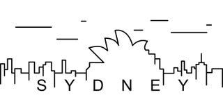 Icono del esquema de Sydney Puede ser utilizado para la web, logotipo, app móvil, UI, UX stock de ilustración