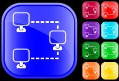 Icono del establecimiento de una red Imagen de archivo libre de regalías