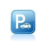 Icono del estacionamiento Fotografía de archivo libre de regalías